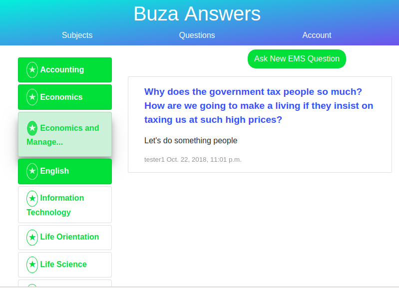 Buza Website Image